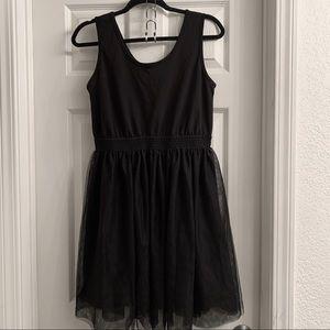 Black Skater with tulle skirt